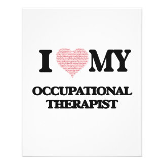 I love my Occupational Therapist (Heart Made from 11.5 Cm X 14 Cm Flyer