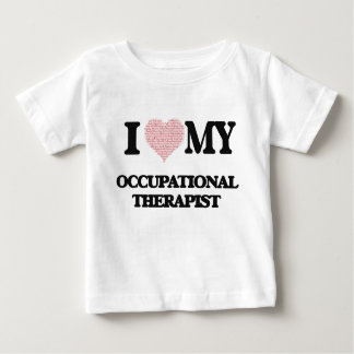 I love my Occupational Therapist (Heart Made from Tee Shirts