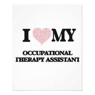 I love my Occupational Therapy Assistant (Heart Ma 11.5 Cm X 14 Cm Flyer