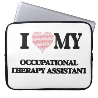 I love my Occupational Therapy Assistant (Heart Ma Laptop Computer Sleeve