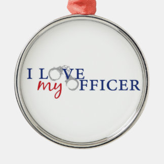 I Love My Officer Christmas Ornament