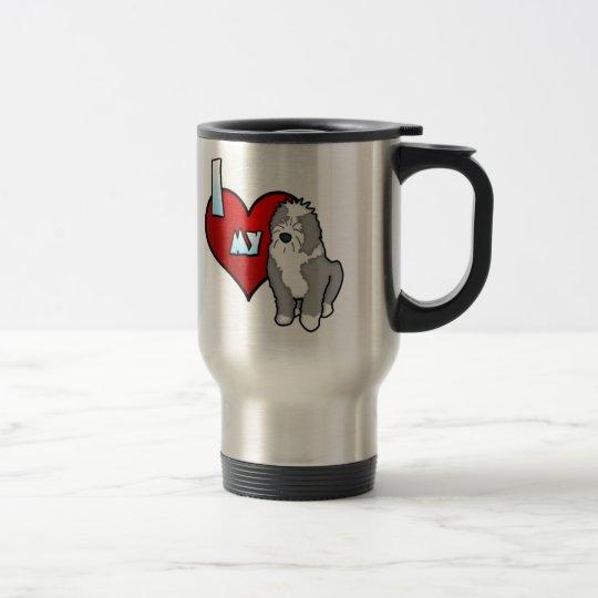 I Love my Old English Sheepdog Travel Mug