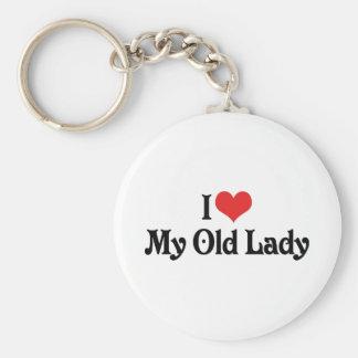 I Love My Old Lady Key Chain