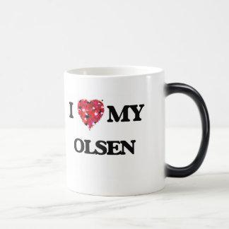 I Love MY Olsen Morphing Mug