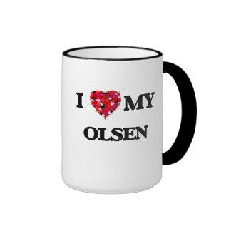 I Love MY Olsen Ringer Mug