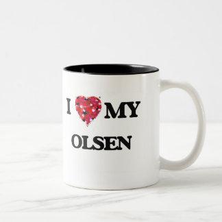 I Love MY Olsen Two-Tone Mug