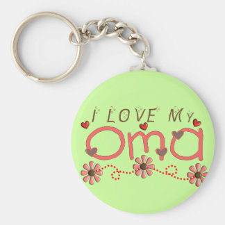 I Love My OMA Gifts Key Ring