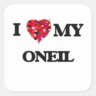 I Love MY Oneil Square Sticker