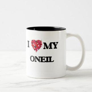 I Love MY Oneil Two-Tone Mug