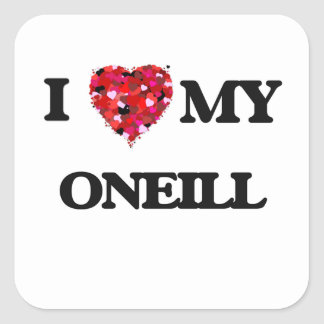 I Love MY Oneill Square Sticker