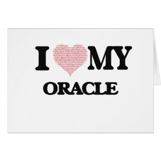 I love my Oracle (Heart Made from Words) Greeting Card