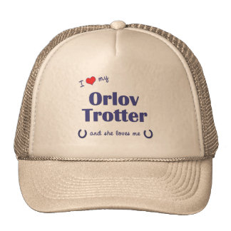 I Love My Orlov Trotter (Female Horse) Cap