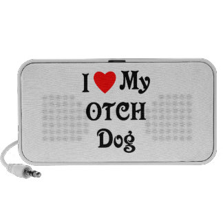 I Love My OTCH Dog Laptop Speaker