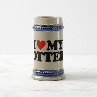 I LOVE MY OTTER BEER STEINS