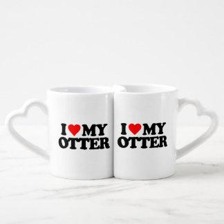 I LOVE MY OTTER COFFEE MUG SET