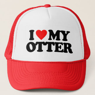 I LOVE MY OTTER TRUCKER HAT