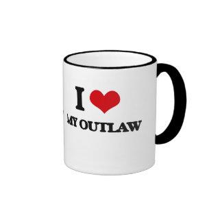 I Love My Outlaw Ringer Coffee Mug