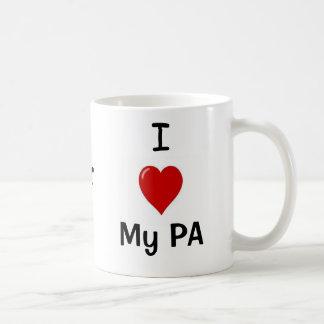 I Love My PA and My PA Loves Me! Basic White Mug