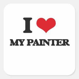 I Love My Painter Square Sticker