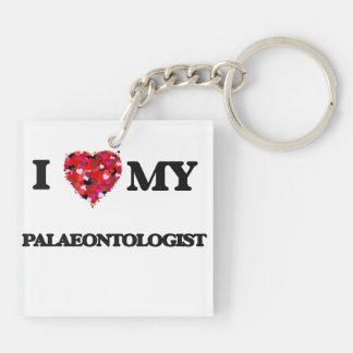 I love my Palaeontologist Double-Sided Square Acrylic Key Ring