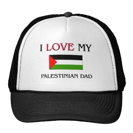 I Love My Palestinian Dad Mesh Hat