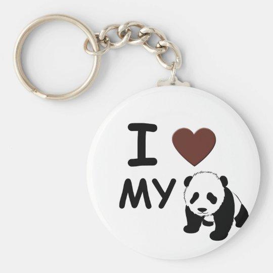 I LOVE MY PANDA KEY RING
