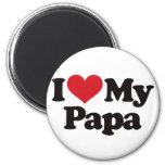 I Love My Papa 6 Cm Round Magnet