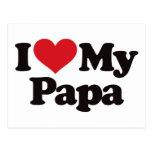 I Love My Papa Postcard