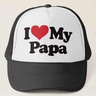 I Love My Papa Trucker Hat