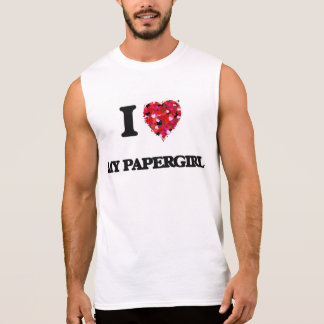 I Love My Papergirl Sleeveless T-shirts