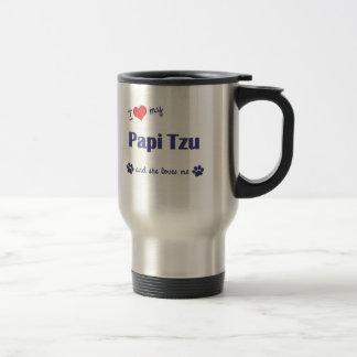 I Love My Papi Tzu (Female Dog) Mugs