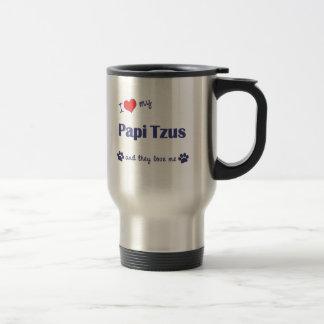 I Love My Papi Tzus (Multiple Dogs) Mug