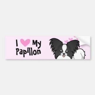 I Love My Papillon Bumper Sticker