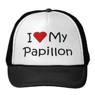 I Love My Papillon Dog Breed Lover Gifts Hats