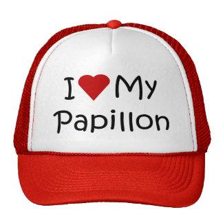 I Love My Papillon Dog Breed Lover Gifts Trucker Hats