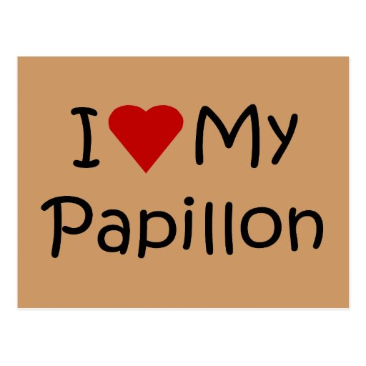 I Love My Papillon Dog Breed Lover Gifts Postcards