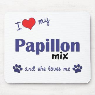 I Love My Papillon Mix Female Dog Mouse Pad