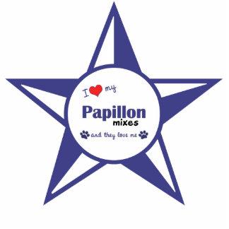 I Love My Papillon Mixes (Multiple Dogs) Photo Sculpture Decoration