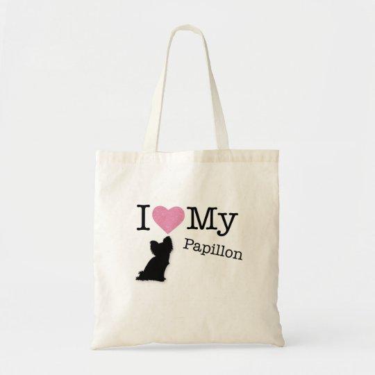 I love my papillon tote bag