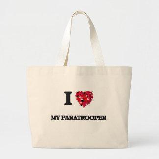 I Love My Paratrooper Jumbo Tote Bag