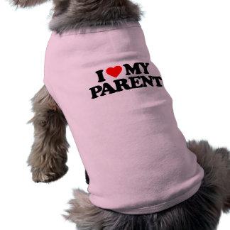 I LOVE MY PARENT PET TEE SHIRT