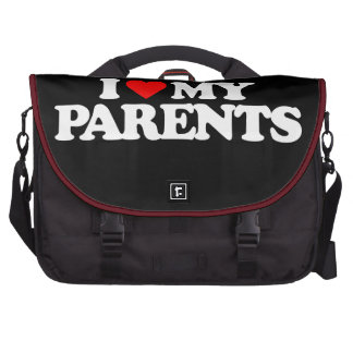 I LOVE MY PARENTS LAPTOP MESSENGER BAG