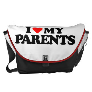 I LOVE MY PARENTS MESSENGER BAG