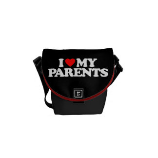 I LOVE MY PARENTS COURIER BAG