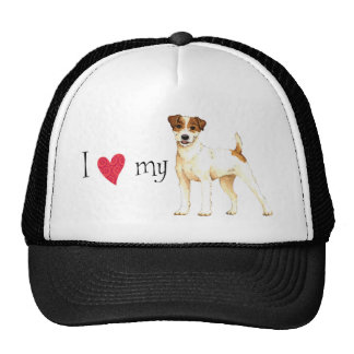 I Love my Parson Russell Terrier Cap