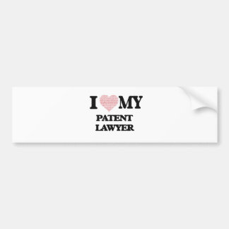 I love my Patent Lawyer (Heart Made from Words) Bumper Sticker