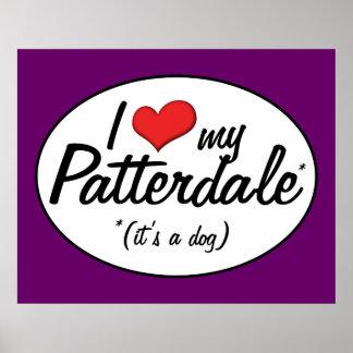 I Love My Patterdale (It's a Dog) Print