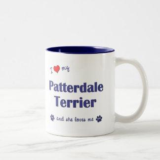 I Love My Patterdale Terrier (Female Dog) Two-Tone Mug