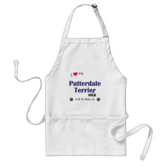 I Love My Patterdale Terrier Mix (Male Dog) Standard Apron