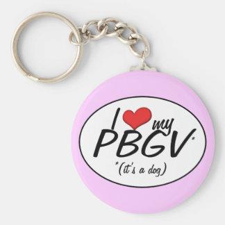 I Love My PBGV (It's a Dog) Basic Round Button Key Ring